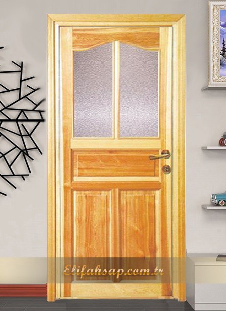 Camlı ahşap kapı 007